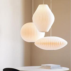 2019 LED Nelson bolha lâmpada Pear Pendant Light Branco 40 centímetros Replica E27 Silk Pendant Light Lamp Pendant Lighting