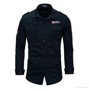 Les nouveaux hommes Pilotez les chemises à manches longues Chemises col vers le bas MA1 Turn Tops Fashion Shirt Vêtements