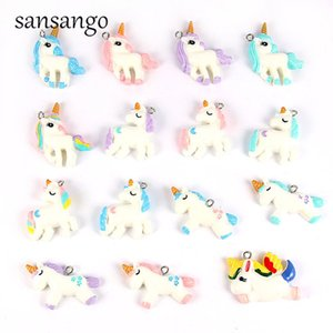 ewelry & Accessories 15style Colorful Resin Unicorn Charms Pendant Beads For Jewelry Making Accessories DIY Necklace Cute Keychain For Un...