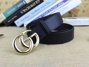 Fashion Men and Women Unisex Belt with g Gold Buckle 2020 Designer Mens Casual Belts for Jeans Female Black Belt for Dresses