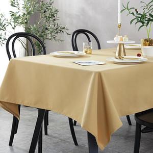 Todo tipo de algodón y lino color sólido a prueba de agua Mantel decorativo decoración de fiesta de la boda del paño de mesa cubierta de ventas directas