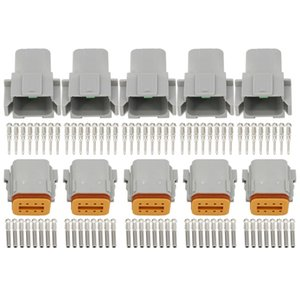 5 Sets 8 Pin DT04-8P / DT06-8S Automobile water secure electrical Deutsch Connector plug 22-16AWG