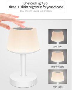 الأزياء DEAK اللاسلكية الذكية رئيس الملونة LED ليلة باس الصوت الجدول مصباح رئيس لاسلكية stero مكبر الصوت DHL الشحن
