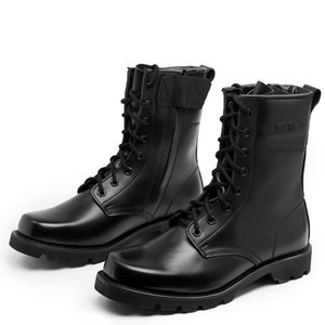 Biqueira de aço sapatos de segurança nós militares botas de couro para homens Combate Bot infantaria Tactical Botas Askeri Exército Bot Bots Erkek AYAKKABI