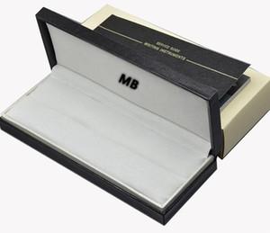 De alta calidad de la marca MB pluma caja de regalo con el caso de documentos de libro Manual de lujo negro MB pluma para el regalo de Navidad @yamalang embalaje pluma