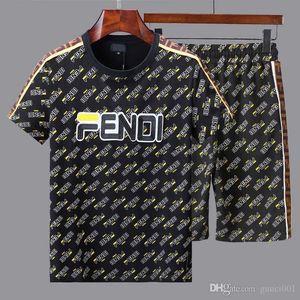 spring t-shirt dos homens de manga curta e verão 2020 nova tendência de estilo Hong Kong bonito meio de mangas ins marca maré roupas soltas terno