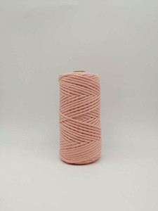 ROPEMATE SOFT COTTON CORD macrame decor project handmade 4MM 100Meters - 1 SINGLE STRAND - PEACH COLOR