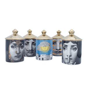 Retrao Suporte De Vela De Cerâmica Artesanais Diy Velas De Armazenamento Vintage Bin Caft Decoração de Casa Jewerlly Caixa De Armazenamento