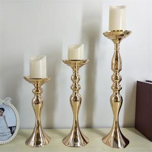 Castiçais de ouro de 50 cm de altura para adereços de casamento pequena sereia vaso de ferro, artigos de flor de decoração em estilo europeu decoração DHL grátis