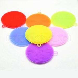 Multi-Funktions-magische Silikon-Teller-Schüssel-Reinigungsbürsten Pad Pot Pan Wash Reiniger Küchenzubehör 7colors RRA1833