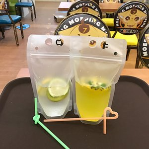 500ml Transparent Self-sealed Plastic Beverage Bag Drink Milk Coffee Container Drinking Fruit Juice bag Food Water Bottles T2I5975