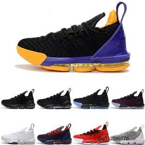 Мужские THRU 5 LE J 16 мужской баскетбольной обуви ЧТО Тройной черный Бред Oreo на открытом воздухе тренеры спортивных мужчин спортивных дизайнер обуви кроссовки