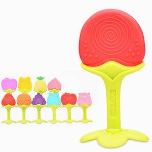 Bebek Silikon Diş Halkaları Food Grade Silikon diş kaşıyıcınız Meyve Şekli Bebek Teething Silikon Teething Oyuncak InfantChew Charms Diş Oyuncak