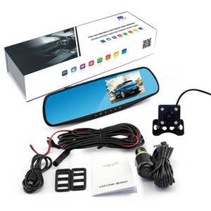 4.3 Inch Car Dvr Camera Full HD 1080P Automatic Camera Rear View Mirror With DVR And Camera Auto Recorder Dashcam Car DVRs