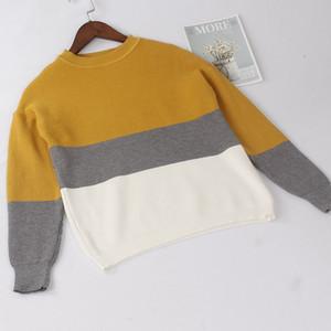 ONLYSVTER Automne Hiver chaud Pull femmes tricot Pull Top épais Multicolor précarisés Jumper