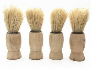 Neue gesundheit natur holzgriff weichen männer rasierpinsel reines großes nylon haar weiches gesicht reinigung make-up gesicht rasierpinsel rasur werkzeuge