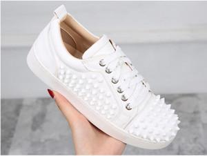İtalya Marka Tırnaklı Kırmızı Sole Ayakkabı Düz Kırmızı Alt konumundadır Dikenler Çivili Sokak Stili Düz El yapımı Sneakers Eğitmenler Wholesal DH2N60