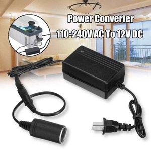Cigarrillos del coche convertidor AC 100-240V A 12V DC adaptador de encendedor del coche zócalo cargador Negro (US / AU Plug)