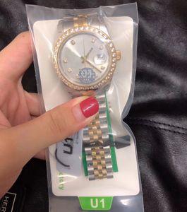 U1 Fecha de fábrica para hombre Reloj de pulsera para mujer 36 mm Tamaño medio Mecánico mecánico de zafiro de zafiro de zafiro relojes relojes de pulsera femenina