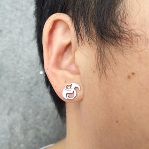 New Strange music charm Tech N9ne Stud Earring stainless steel silver polish jewelry Brand new design good gift for unisex