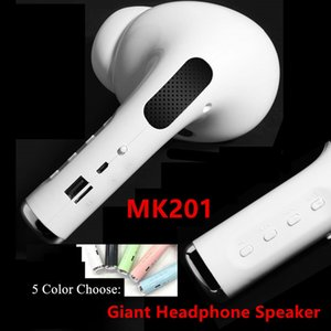 Giant Headset Speaker Wireless Bluetooth Earphone Speaker Portable Outdoor 3D Stereo Music Loudspeaker Support TF FM AUX Mic MK-201 Speakers