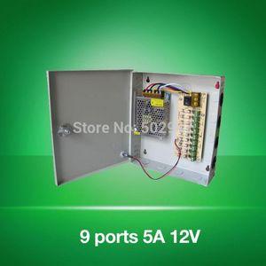 Freeshipping 12V 5A 9ch порт питания коробка для камеры видеонаблюдения