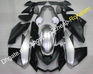 Personalizado Fairing Fit For Kawasaki Z1000 2010 2011 2012 2013 Z1000 Z 1,000 Preto Prata Moto carenagens (Injecção)