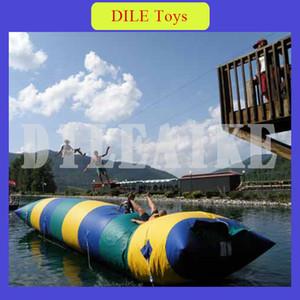Freies Verschiffen Tür zu Tür 7 * 3m aufblasbares Wasser-Klecks-Sprungs-Tauchen-Turm-aufblasbares springendes Kissen-aufblasbarer Wasser-Klecks für Verkauf
