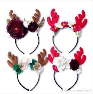 Cabelo festa de aniversário do cabelo Chifre Natal Unicorn Hairband cervos Hoops férias Varas mantilha Flor Headband Cabelo Acessórios DYP6276