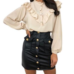 Новое поступление 2020 мода Сексуальная Высокая талия искусственная кожа женщины юбки пояса молния карандаш мини юбка Осень Зима белый черный юбка