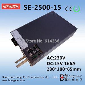 Freeshipping AC110 또는 230V 2500W DC 0-15V 전원 공급 장치 15V 166A AC-DC 고전력 PSU 0-5V 아날로그 신호 제어