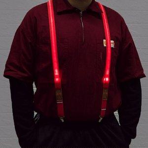 LED ışıklı Jartiyer 2.5 * 100 CM clip-yetişkin Elastik 4 klip Ayarlanabilir Parantez 5 katı Renkler erkekler Noel hediyesi Için