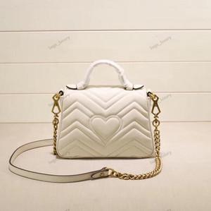 Mode-Kette Handtasche nette Schultertasche für Frauen Gold Chain Flap Clutch-Handtasche für Top Handle Lady Classic Love Umhängetasche