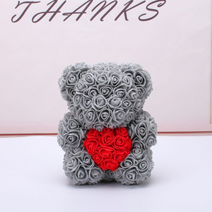 10pcs 25cm Bär von Rosen mit Herz Künstliche Blumen Startseite Hochzeit Festival DIY Günstige Hochzeit Dekoration Crafts beste Geschenk amazzz