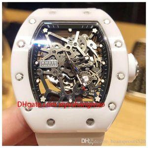 RIC22-4 luxury men's watch movement watch RM035 AMERICA5 top ceramic case, imported rubber strap, mechanical movement, original folding