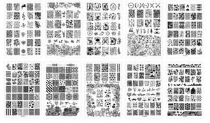 30 PCS * XY-K Prego Carimbar Placas Rendas Flor de Plástico Nail Art Manicure Modelos Stencils Salon Beleza Ferramenta Polonês 14.5 * 9. ...