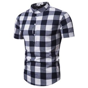 Mens Designer Plaid Imprimé Polos Casual Classique manches courtes T-shirts d'été pour hommes rapides vêtements secs