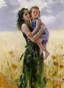 Pino Daeni Anne ve My Kalp için kızı Yakın HD Yazdırma Dikey Sanat Yağ Tuval Çoklu On Boyama P015 200312 boyutları / Hand-boyalı