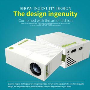 YG310 LCD LED العارض عالية الدقة LED الإسقاط 400-600Lum 1080P HD الصوت AV بطاقة مايكرو SD فتحة ميني بروجكتور