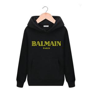 19AW Altın / Balmain Kadın erkek Tasarımcılar Kazak Spor kukuletalı marka Ceket Lüks casualBalmain giyim hip hop eşofmanı Tişörtü
