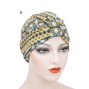 Wholesale 10pcs lot turban hair bonnets Arab Muslim head wrap double layers cotton and satin silky African dreadlock hat TB-70
