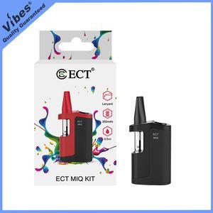 ECT originale MIQ Vape Box batterie kit de démarrage avec cartouche - 350mAh Préchauffez tension variable 510 fil PK Mico