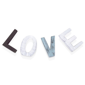 Lettres de découpe en bois décoratif de signe d'amour de bloc en bois en détresse