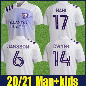 MLS 2020 kit Orlando City Soccer Jersey PEREYRA NANI Football Shirt JR.URSO DWYER Orlando City SC per bambini enfants più 10pcs DHL di spedizione libero