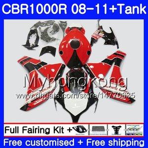 Bodys + Tank para HONDA CBR 1000RR CBR 1000 RR 2008 2009 2010 2011 277HM.45 CBR1000 RR 08 10 11 CBR1000RR 08 09 10 11 Marco rojo de stock Carenado