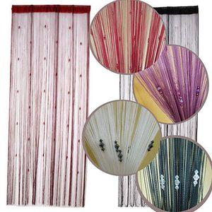 Tela New Style faísca frisada Cadeia porta janela cortina divisória Fly Cego Tassel forma da cortina decorativa