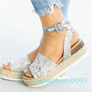 Compensées Chaussures Femmes Escarpin Sandales Chaussures d'été 2019 Chaussures Femme Flop Sandales 2019 Taille Plus C09
