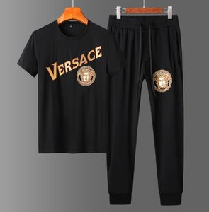İlkbahar yaz Erkek Moda Spor Spor 2020 lüks tasarımcı giysi eşofman Erkek Tişörtü Erkekler t gömlek Set mens