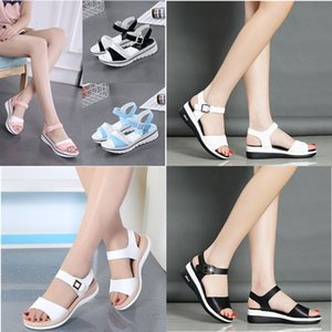 2020 summer new wild flat sandals ladies soft bottom casual comfortable non-slip student female wedge heel shoes