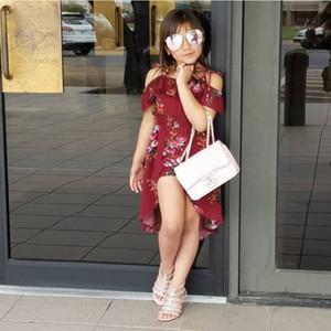 Sommer modische Blumen Kleinkind Baby Mädchen ärmellose Rüschen Prinzessinnen Feen Kleid Strampler Body Overall Outfits Spielanzug